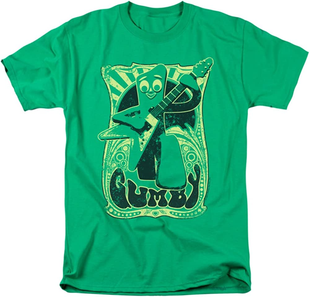 Gumby Mens Vintage Rock Poster T-shirt Green