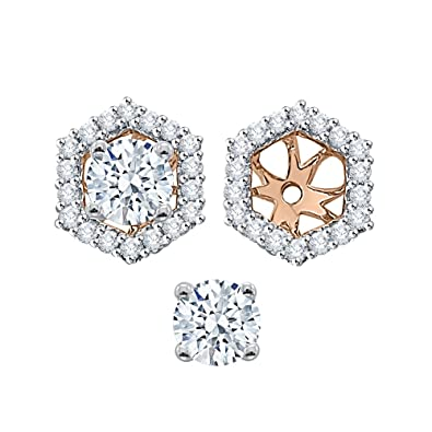 4f0a4d581 KATARINA Diamond Earring Jackets in Gold or Silver (1/2 cttw, G-H, I2-I3)