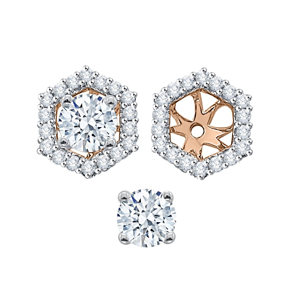 Diamond Earring Jackets in 14K Rose Gold (1/2 cttw) (Color GH, Clarity I2-I3)