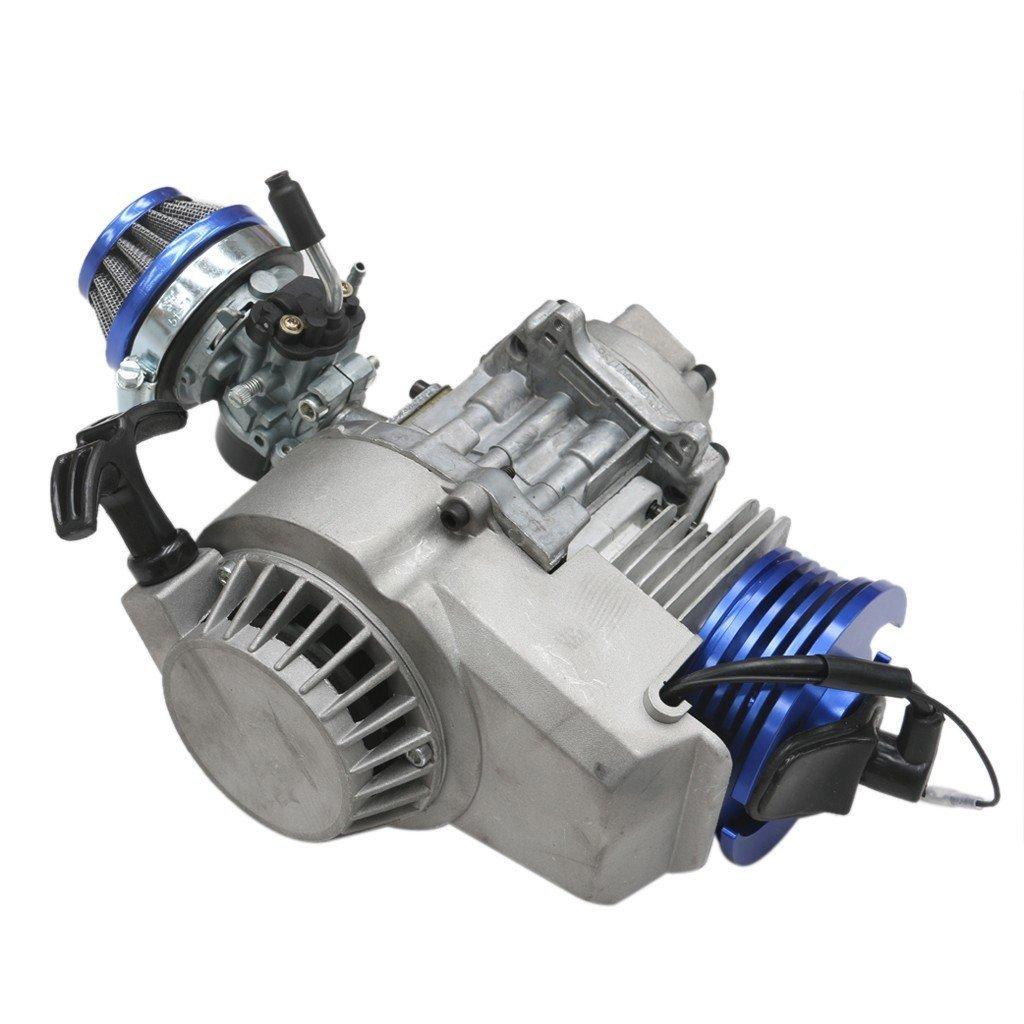ZXTDR 49cc 2 Stroke Engine Motor for Mini Pocket Bike Gas G