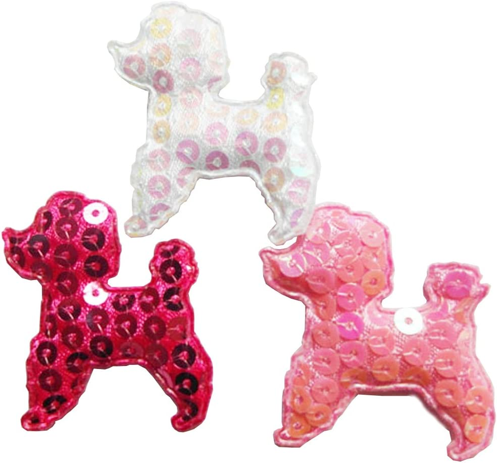 Satin Poodle Iron On Applique x 1 Various Sizes
