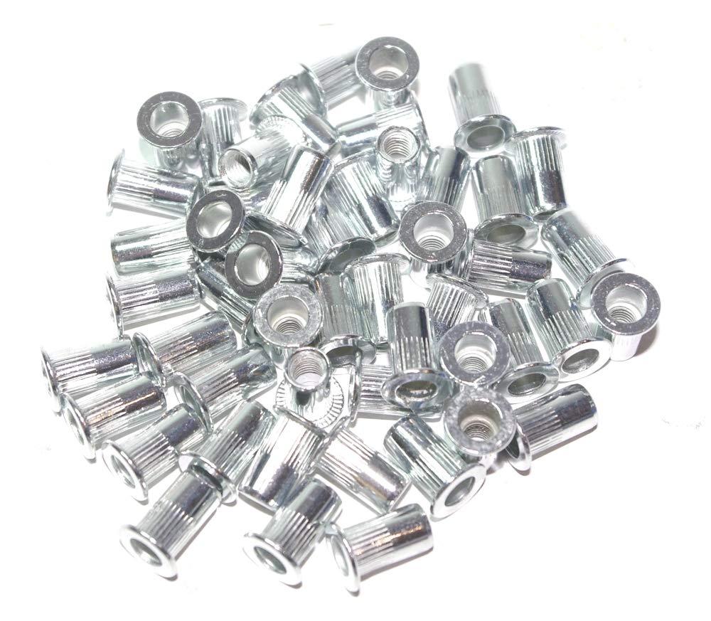 A-RM3 Surtido de tuercas remachables M3 aluminium 50 piezas