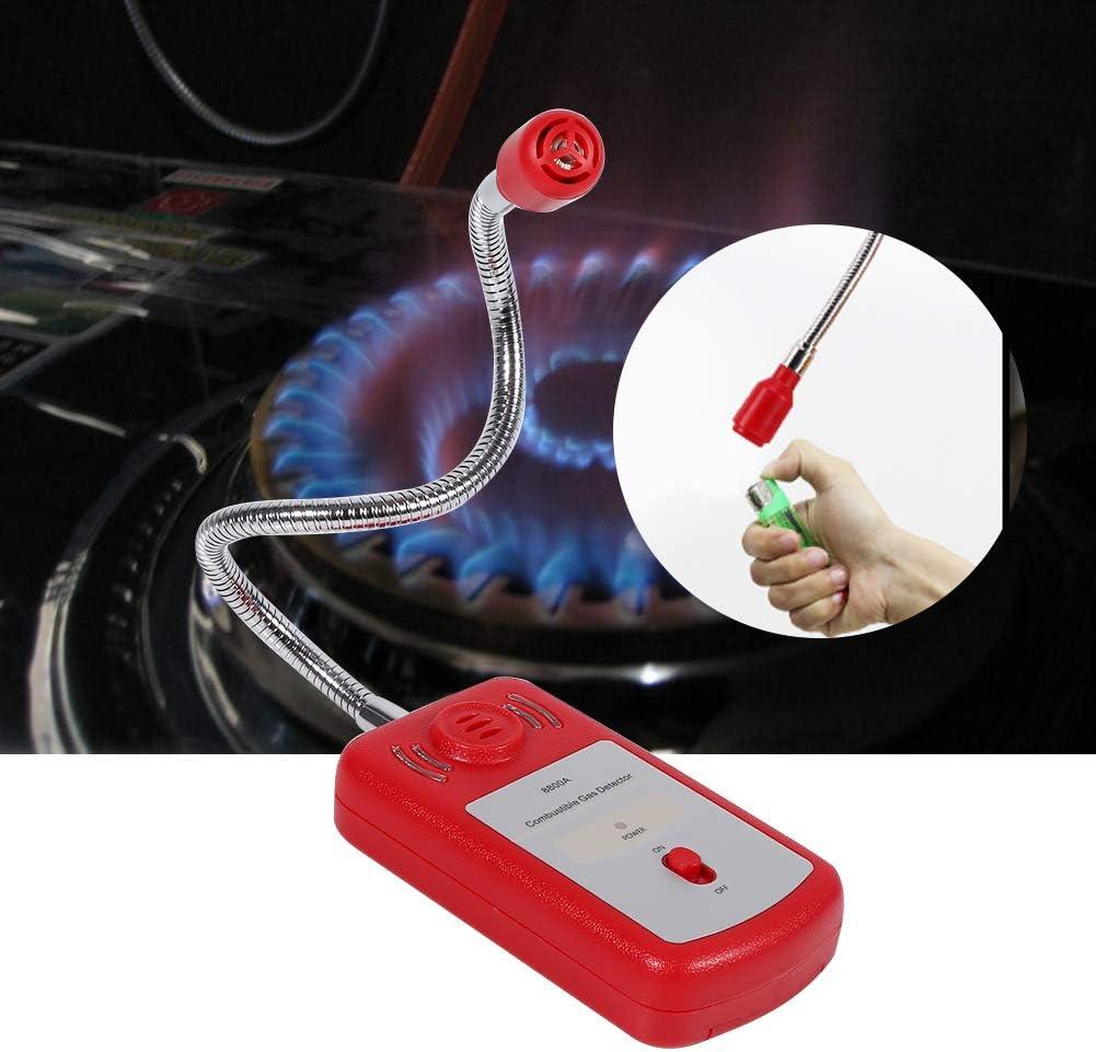 Detector de gas probador de fugas de gas natural port/átil combustible de 1 pieza con alarma sonora y destello de luz