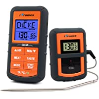 iTronics TP07 Wireless Remote Digital Cooking Food Meat Thermometer for Grilling Oven Kitchen Smoker BBQ Grill Thermometer with Probe, 300 Feet Range
