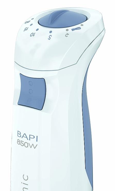 Taurus Bapi 850 Plus inox ergonomic - Batidora Varilla , 850W, 20 velocidades, varilla inoxidabel, accesorio picador y levanta claras, color blanco: ...