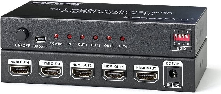 Kanex Pro SP-HD1X44K 4K HDMI 4-Port Splitter