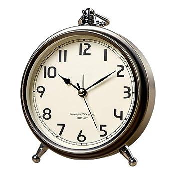 Amazon.com: Reloj de escritorio pequeño y silencioso ...