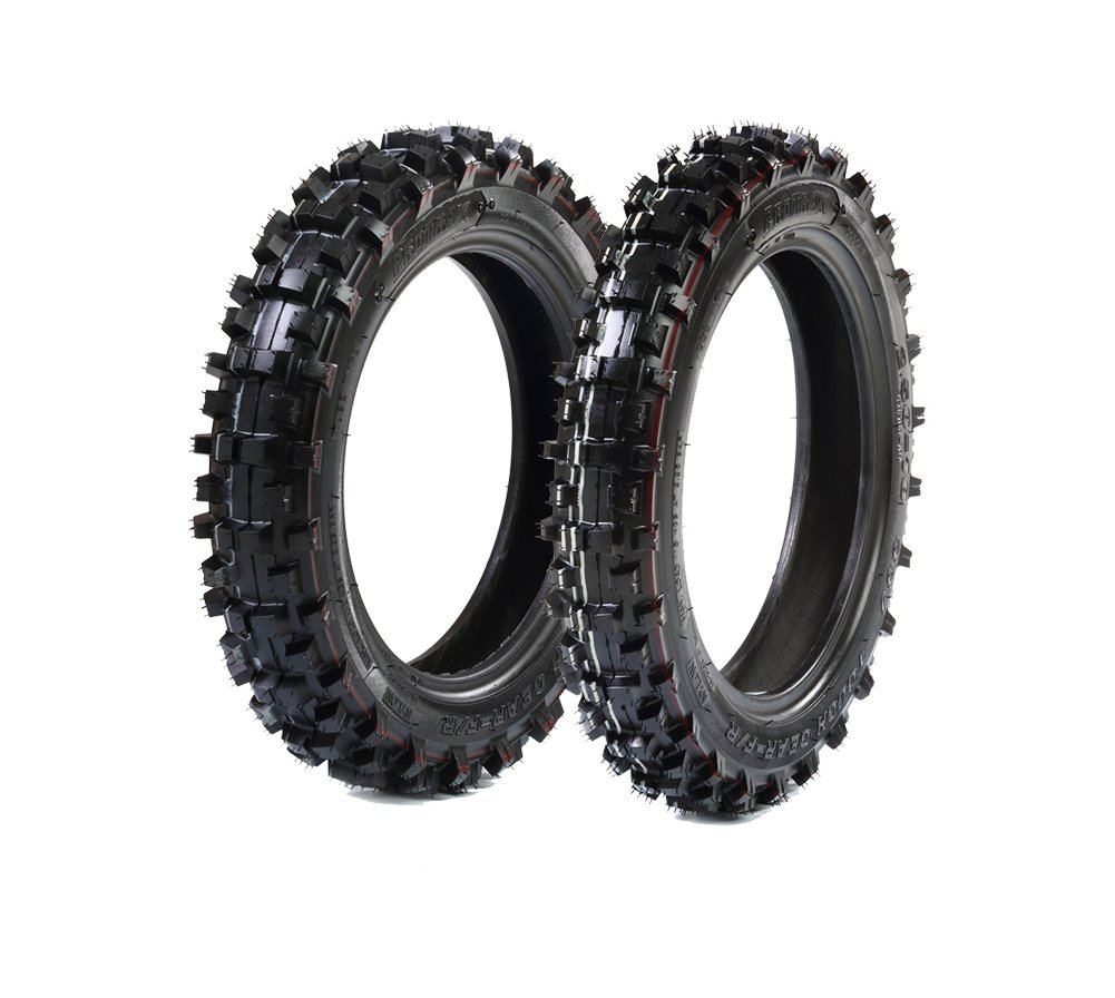 ProTrax Offroad Mini Pit Bike Front 2.50-10 & Rear 2.75-10 Tire Combo - Durable - Aggressive - Lessons Mud Buildup- Mini Dirtbike/Motocross