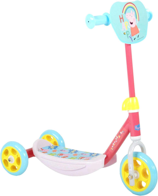 Peppa Pig Wutz Roller f/ür Kinder ab 2 Jahre M/ädchen Jungen Laufrad Scooter Tretroller Dreirad Pink