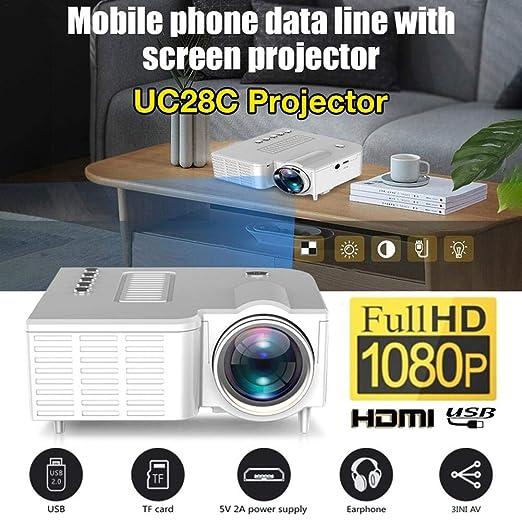 Bloomma 2020 El más nuevo Mini proyector UC28C Home Cinema Theater ...