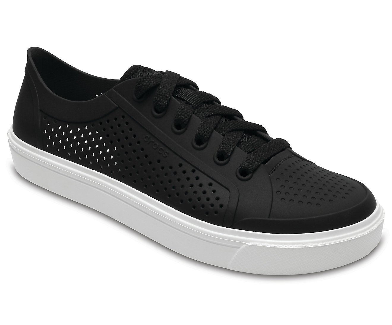 Crocs Womens Citi Lane Roka Court Clog Shoes, Size: 4 B(M) US Womens, Color Black