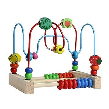 Laberinto Con Cuentas Juguete De Madera En Estilo Montessori Juegos