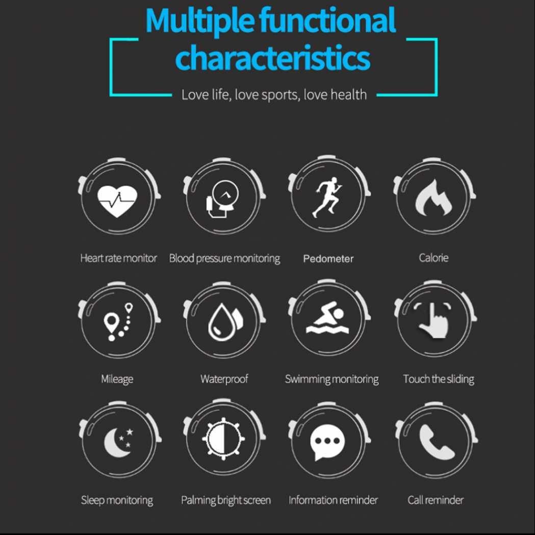 Fitness Tracker Podómetro impermeable Pulsera de Actividad Ritmo Cardíaco Presión Arterial Monitor de Frecuencia Cardíaca Pulsera de Fitness para niños, ...