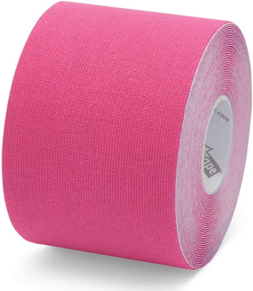 K-Tape Original Latex-Free Kinesiology Tape with Cotton and Long Lasting Physiobond Adhesive Single Roll - Red - 5cmx5m
