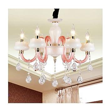 A-ZHP Lámparas de araña Candelabro de Cristal Europeo Jade ...
