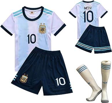 jersey Camisa de FFF Copa Mundial de Fútbol, Argentina Equipo Nº 10 2018 Argentina Camiseta de fútbol para niños Ropa de Entrenamiento de fútbol la Camiseta de la Camiseta de los Cortocircuitos,20: