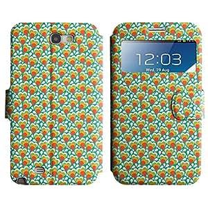 LEOCASE corazón lindo Funda Carcasa Cuero Tapa Case Para Samsung Galaxy Note 2 N7100 No.1005428