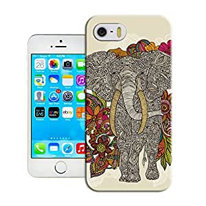 Elephant Walking in paradise Design Hard Snap on Phone Case Best Durable Fit iPhone 5/5s