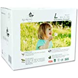 ECO BOOM Baby Bamboo Biodegradable Diapers Infant Nature Disposable Diapers Eco Friendly Nappies for Babies Size L 90…