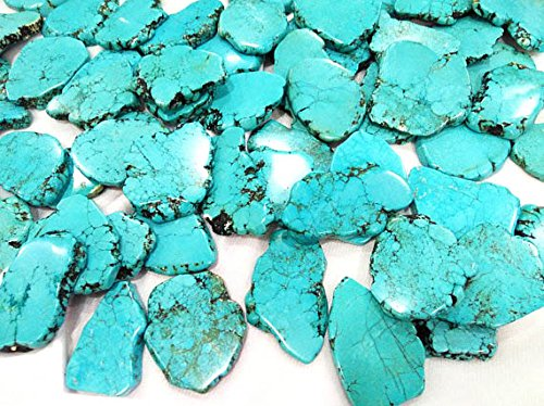 10pcs 40-60mm Natural Turquoise Slab Freeform Cabochons Gemstone jewelry pendant (Freeform Bead Turquoise Pendant)