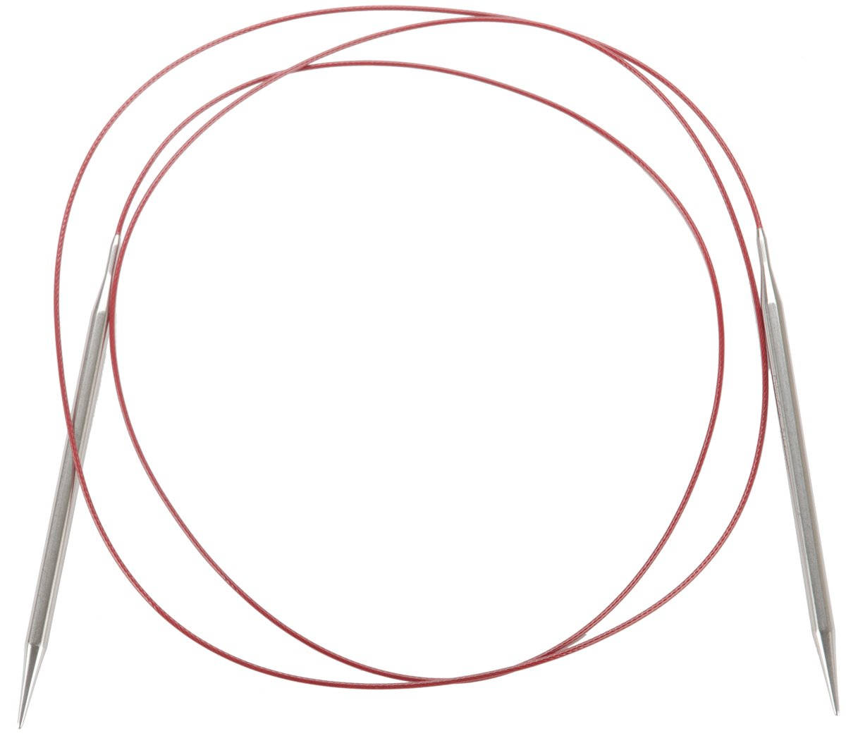 ChiaoGoo 60-Inch Red Lace Stainless Steel Circular Knitting Needles, 11/8mm 7060-11