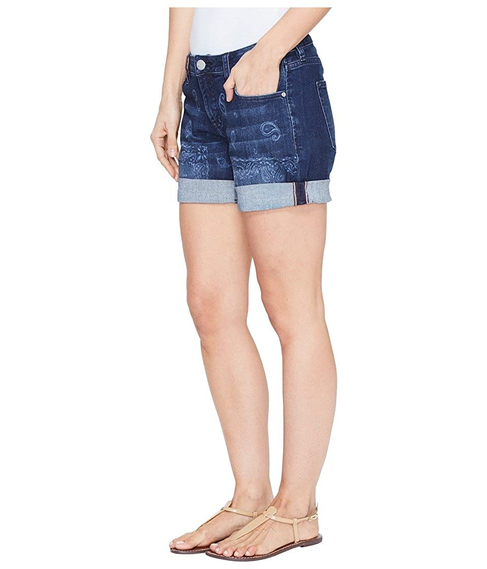 4a0476a37a Jag Jeans Womens Alex Boyfriend Laser Printed Mission Denim Shorts in Rapid  Dark at Amazon Women's Clothing store:
