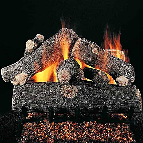 - Rasmussen Prestige Oak Log Set with 18-Inch Multi-Burner and Remote Ready Safety Pilot w/ LC18 Valve Vanisher (PR186-LC18-VMV-N), Natural Gas, 18-Inches