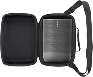 Fit SONOS Move Speaker and Charging Base, Black EMAQUIN Travel and Storage Carrying Case Bag for SONOS Move Speaker