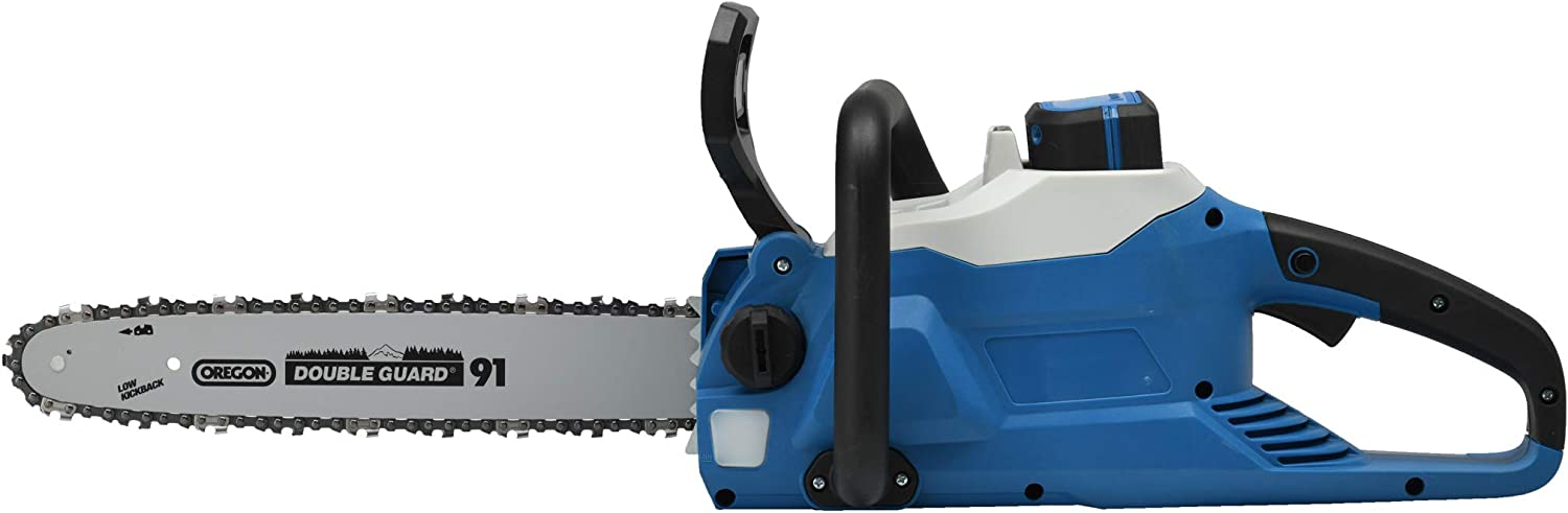 Hyundai HY-CS3501-58LI Electric Chainsaw Blue//Black Battery and Charger Not Included