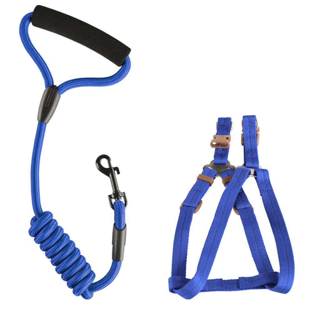 bluee XSmallDog Safety Vest Harness, Pet Dog Adjustable Harness with Walking Lead Leash Chest Strap Durable Comfortable