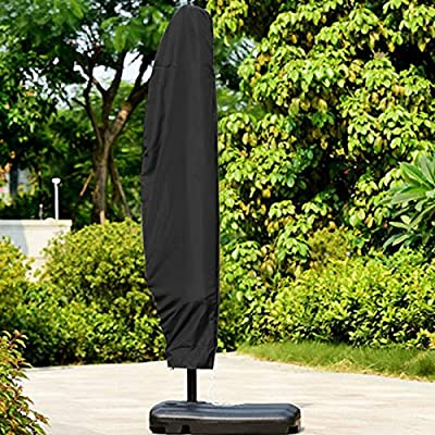 GOODTY Parasol Umbrella Covers Waterproof UV-Resistant Large Banana Umbrella Cover for 9-11feet Patio Cantilevered Umbrella (M-265CM): Kitchen & Dining