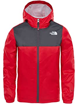 4fb637f8da THE NORTH FACE B Zipline Rain JKT Veste imperméable pour Enfants XS Rouge/Gris  Plomb