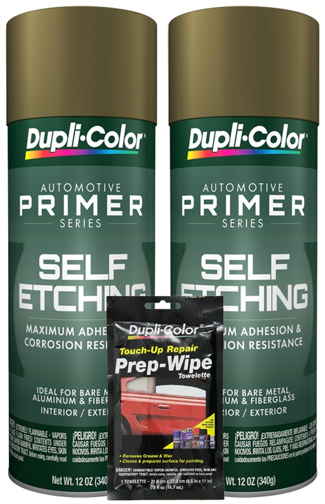 Dupli-Color General Purpose Self-Etching Primer (12 oz) Bundle with Prep Wipe Towelette (3 Items)