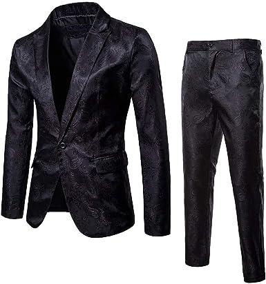 Logobeing Chaqueta y Pantalón de Traje de Hombre Blazer - Traje de ...