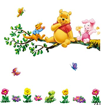 Marvelous Winnie The Pooh And Tiger Sitting On The Branch (2 Pages) Mural Wall  Stickers Part 30
