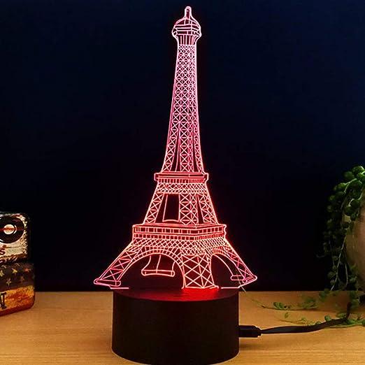 Heaviesk Interruptor Táctil USB Mesa de Luz de Escritorio 3D ...