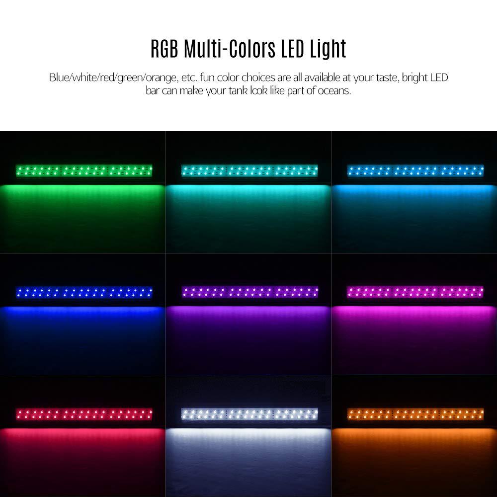 DADYPET Luz Led Acuario, Iluminación LED para Acuarios Lámpara para Peceras 25×6.5 cm Incluye Enchufe (Tamaño S): Amazon.es: Productos para mascotas