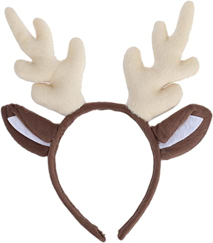 Adults Kids Head Wear Reindeer AntlerHeadband Christmas Costume Accessories