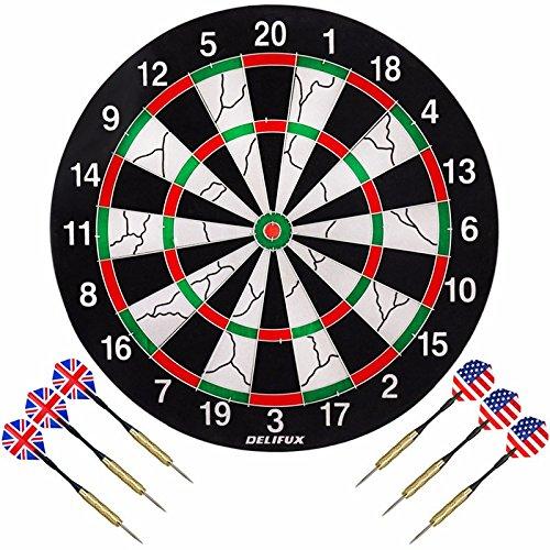 new-38cm-professional-official-sized-dartboard-sports-6-free-darts-flocking-dart-board