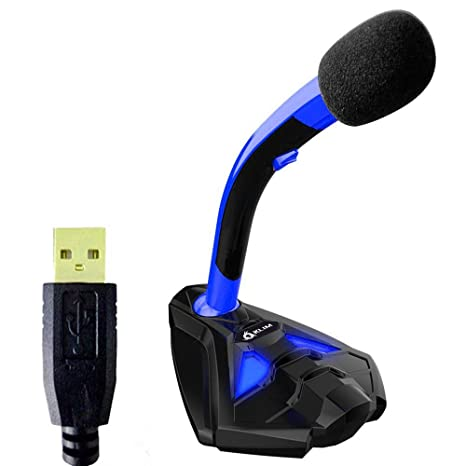 amazon com klim voice desktop usb microphone for computer laptop pc