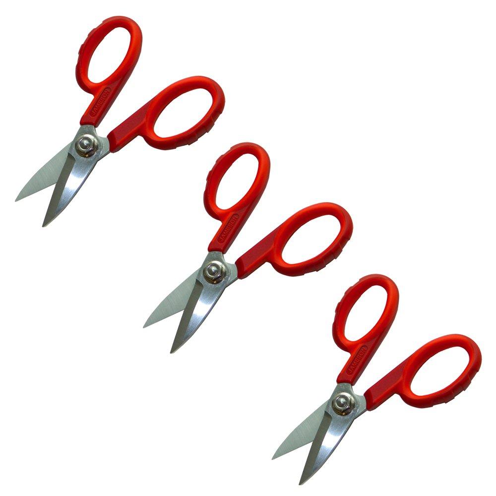 Jameson 32-60-3PK 5-1/2 Inch Fiber Optic Scissor Shears 3-Pack