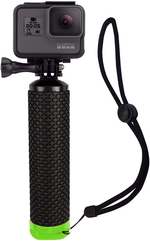 Houdian Empuñadura Flotante Boya Dispositivo Flotante para Todas Las cámaras GoPro Hero y cámaras de acción Accesorios para Deportes acuáticos - Verde