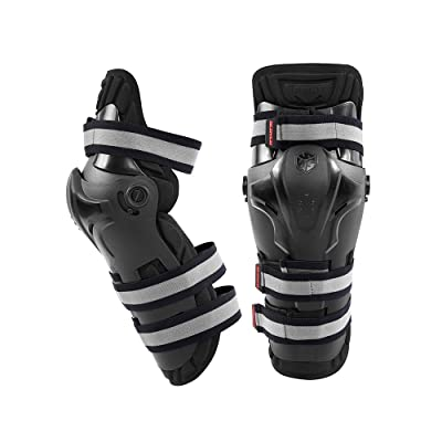 SCOYCO Rotatable Knee Guards,Shock-Resistant Knee Protector CE Certificated PP Shell Armor Motorcycle Racing Sports Protection: Automotive