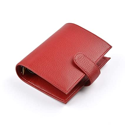 Amazon.com : New Arrivals Genuine Leather Rings Notebook A7 ...