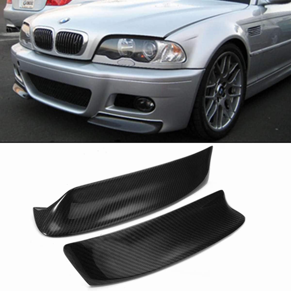 QIUXIANG Frente 1pair Real de Fibra de Carbono Auto de Choque Splitter Reborde del difusor Canard Protector de Ajuste de la Cubierta en Forma for BMW E46 M3 1999-2006