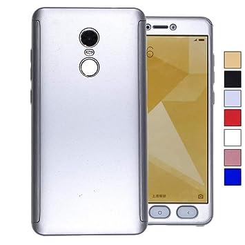 COOVY® Funda para Xiaomi Redmi Note 4X 360 Grados, Carcasa Ultrafina y Ligera, con Protector de Pantalla, protección de Cuerpo Completo | Color Lata
