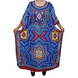 Mogul Womens Jamie Maxi Caftan Kaftan colorful Cruise Cover Up Dress One Siz