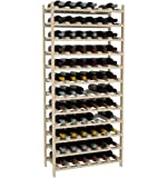 "Creekside 72 Bottle Modular Wine Shelves (Pine) by Creekside - Exclusive 12-inch deep design, bottle necks don't stick out! Quality, high grade pine., 12"", Pine"