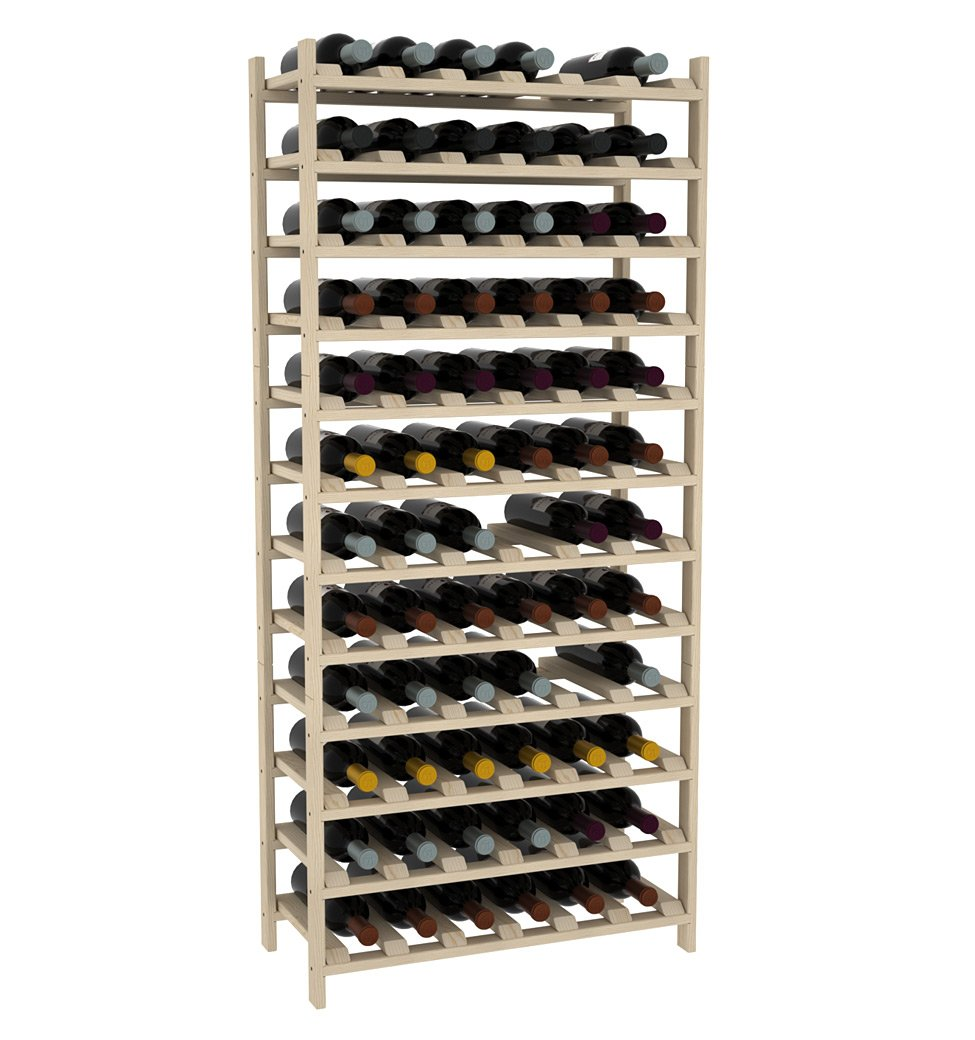 Creekside 72 Bottle Modular Wine Shelves (Pine) by Creekside - Exclusive 12-inch deep design, bottle necks don't stick out! Quality, high grade pine., 12'', Pine by Creekside Manufacturing