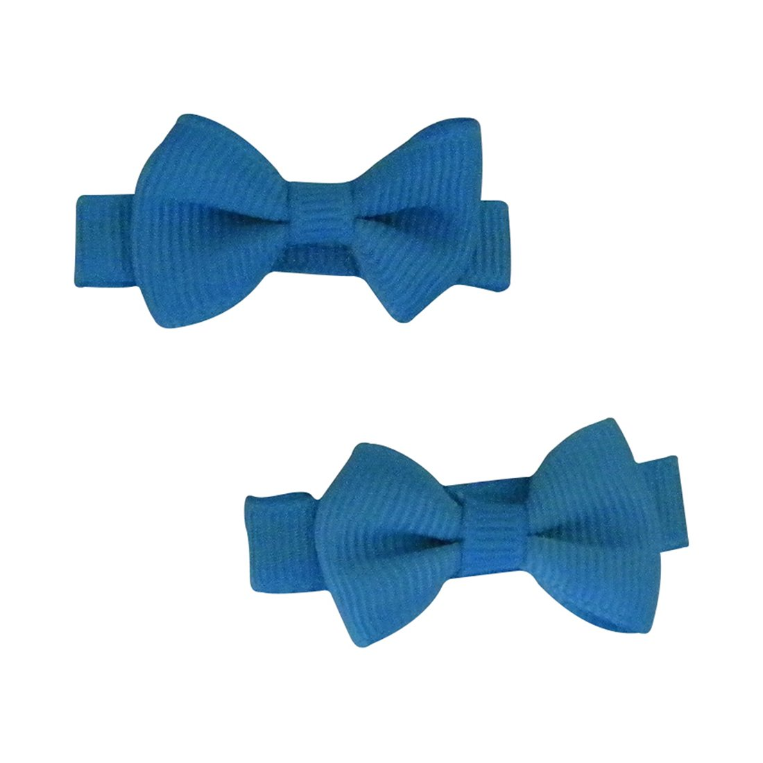 Set of 2 Mini Bow Clips for Babies or Toddlers on 1.75 Inch Hair Clip Keshet Accessories ksbow-mini2-black-SF